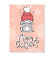 merry christmas funny postcard vector image vector image