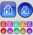 Milk Juice Beverages Carton Package icon sign A vector image