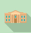 museum courthouse icon flat style vector image vector image