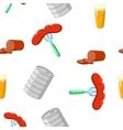 Oktoberfest pattern cartoon style vector image vector image