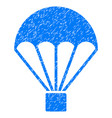 parachute grunge icon vector image vector image