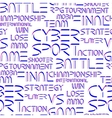 Patern with cyber sport words vector image vector image
