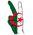 Peace Sign of the Algerian Flag vector image vector image