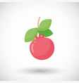 pomegranate fruit flat icon vector image vector image