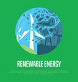 renewable energy banner wind power generation vector image vector image