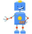 robot cartoon fantasy comic character vector image