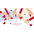 romantic and wedding mood banner hand carry vector image