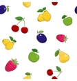 Seamless Pattern of Fresh Fruits vector image vector image