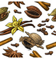 seamless pattern set spices vector image vector image