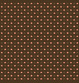 seamless pattern with pink stars on brown vector image vector image