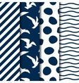 set four seamless sea style patterns vector image