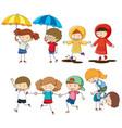 set of children activity vector image vector image