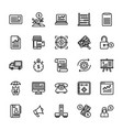 set of startup and new business line icons vector image vector image