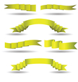 set of yellow banners vector image vector image