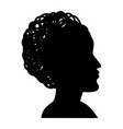 silhouette of woman head icon vector image vector image