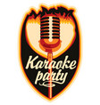 sticker for a karaoke party vector image