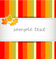 striped autumn background vector image vector image