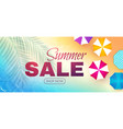 summer sale poster template hot season offer vector image