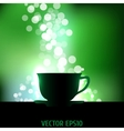 Tea background vector image vector image