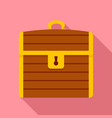 treasure chest icon flat style vector image