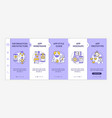 ui and ux design steps onboarding template vector image