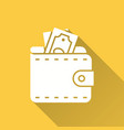 wallet icon for graphic and web design vector image