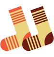 warm winter wool knitted socks flat vector image vector image