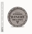 Wine barrel logo winery wine and spirits label on