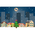 winter landscapechristmas background with houses vector image vector image