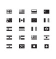 world flag icons on white background vector image