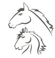 Horses Icons Isolated on White Background vector image