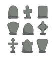 hand drawn headstones vector image