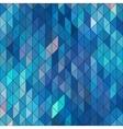 Geometric elegant blue geometry sapphire diamond vector image