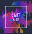 summer party poster colored stripes on dark vector image