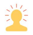new bright idea in human head icon lightbulb vector image