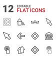 12 cursor icons vector image vector image