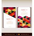 abstract geometric business card set vector image