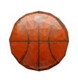 Abstract geometric polygonal basketball vector image