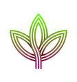 abstract gradients leaf logo vector image vector image