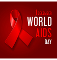AIDS Awareness Day vector image vector image