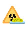 bacteria science hazard radiation danger vector image