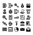 banking and finance line icons 7 vector image vector image