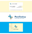 beautiful scissor logo and business card vertical vector image