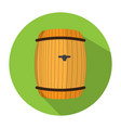 beer barrel icon vector image vector image