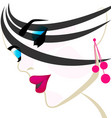 beuty salon woman head vector image vector image