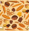 bread bakery and pastry seamless pattern vector image vector image