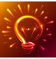 Bright red neon lights abstract bulb vector image vector image