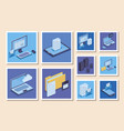 bundle social media icons vector image vector image