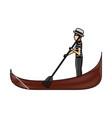 carton gondolier rowing a gondola vector image vector image