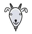 Cartoon animal head icon Goat face avatar for vector image